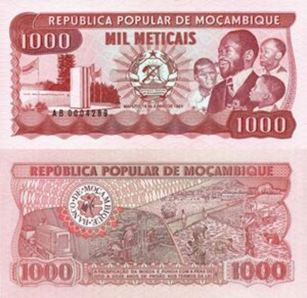 Mozambique 1983 1000 MeticaisUncirculated BanknoteUNCFree Shipping