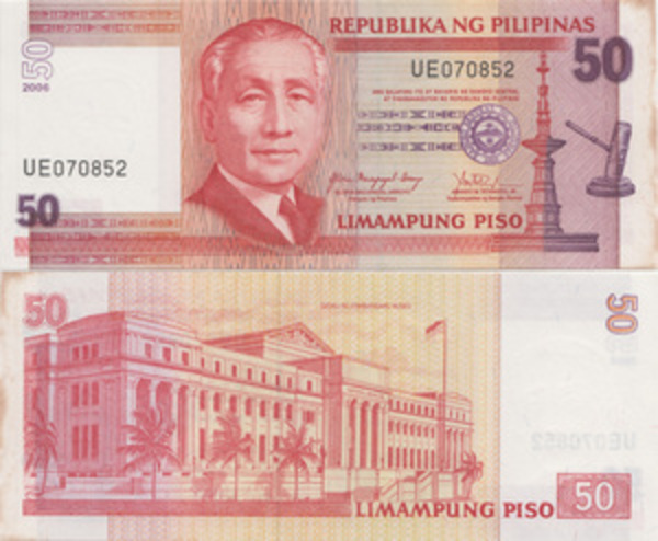 Limampung Piso Philippines banknotes 50 Piso 2013 Original banknotes !