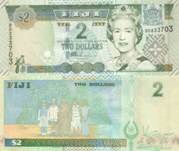 Fiji 2 Dollars 2002 Uncirculated Note