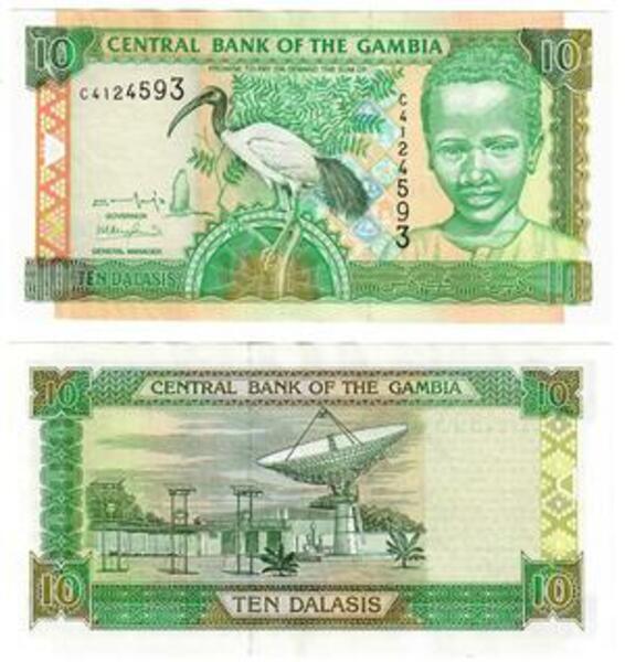 UNC GAMBIA 10 Dalasis 2001 Pick 21b
