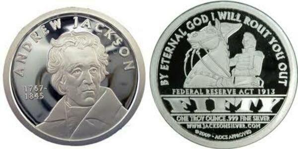 1 Oz Silver Andrew Jackson Exonumia Numista