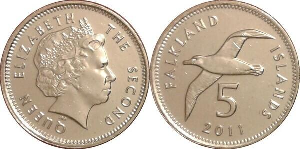 FALKLAND ISLANDS//MALVINAS 1,2,5,10,20,50 PENCE,1,2 POUNDS FULL UNC SET2004//2011