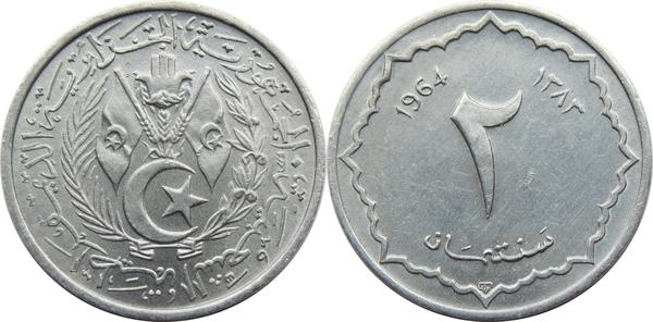2 Centimes Algeria Numista