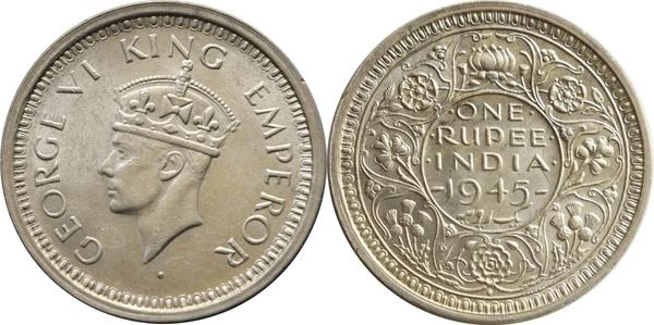 1 Rupee - George VI - India - British – Numista
