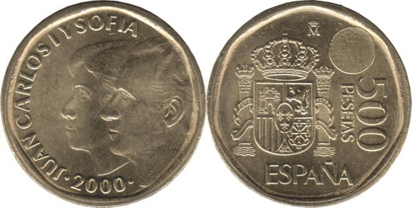 5 PESETAS JUAN CARLOS I 1993 UNCIRCULATED US SPAIN