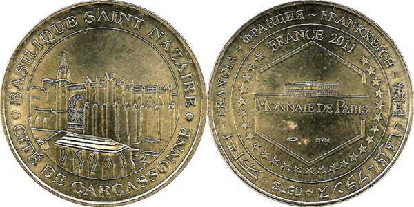 unusual coinage FRENCH ANTARCTIC 100 Francs 2011 Albatros