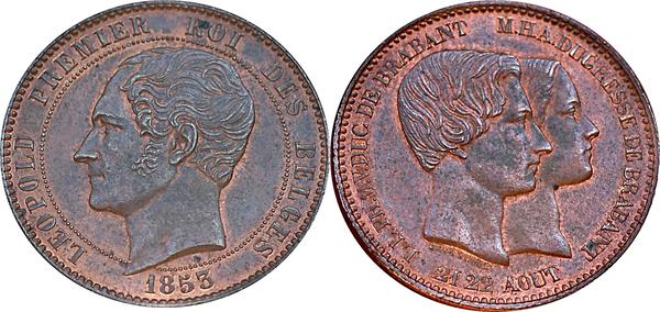 10 Centimes L 233 Opold I Marriage Of The Duke Belgium Numista