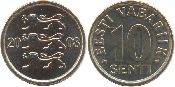 10 senti eesti vabariik сколько стоит 3 копейки 1970