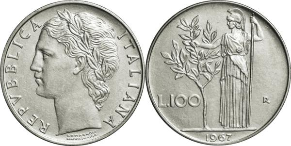7a56ed8868 100 Lire (large type) - Italy – Numista