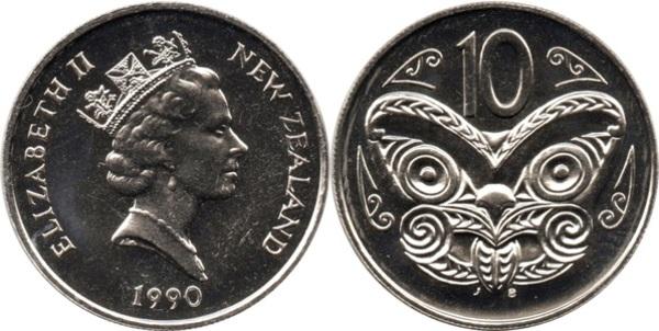 10 Cents Elizabeth Ii 3rd Portrait New Zealand Numista