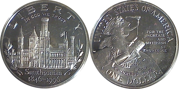 1 Dollar Smithsonian 150th Anniversary United States