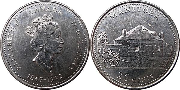 CANADA 1867-1992 ANNIVERSARY 25¢ BRITISH COLUMBIA SILVER PROOF QUARTER COIN