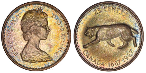 25 Cents Elizabeth Ii Confederation Canada Numista
