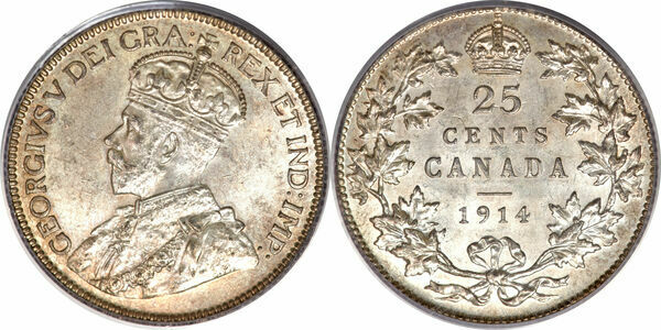 25 Cents George V Canada Numista