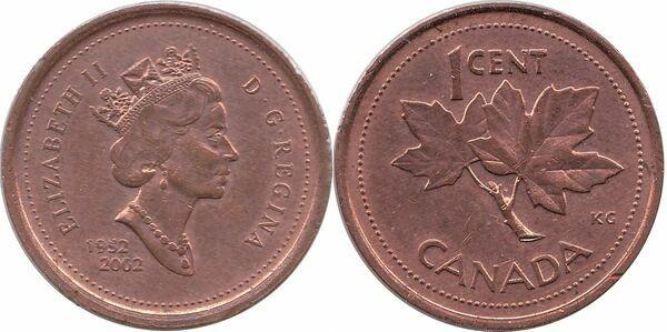 1 Cent - Elizabeth II (Golden Jubilee