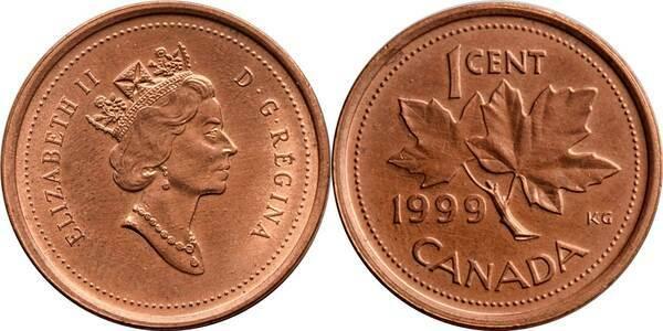 1 Cent - Elizabeth II (3rd portrait) - Canada – Numista