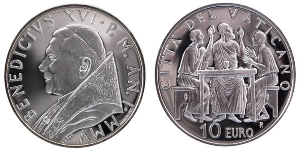 Vatican City 2005-2013 Pope Benedict XVI Silver Medal 34 mm BU