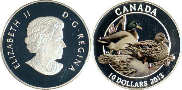 10 Dollars Elizabeth Ii Mallard Duck Canada Numista