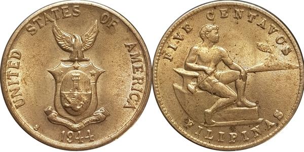 5 Centavos Us Administration Philippines Numista