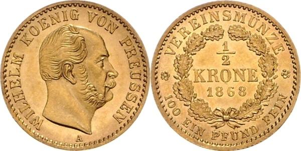 wilhelm koenig von preussen coin 1866