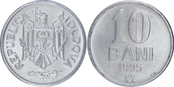 MOLDOVA 10 BANI 2017 ALUMENIUM COIN UNC