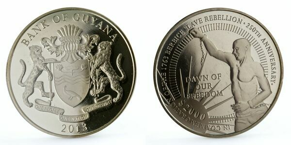 the berbice slave rebellion Detailed information about the coin 2000 dollars (berbice slave rebellion),  guyana, with pictures and collection and swap management : mintage,  descriptions,.