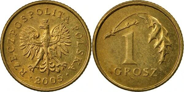 1 grosz rzeczpospolita polska 2002 цена полушка 1714 года цена