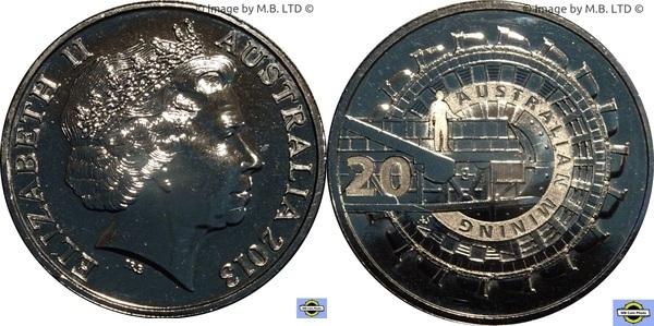 Elizabeth II 2013 Australia Twenty 20 Cent Coin Uncirculated