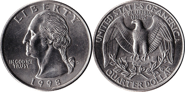 ¼ Dollar Washington Quarter United States Numista