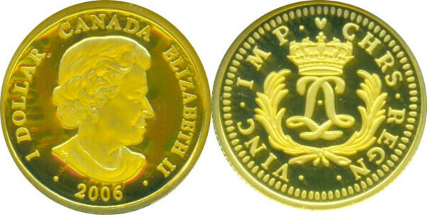2008 Gold Louis 1//20 Pure Gold Coin