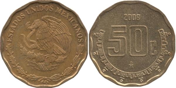 Latest Collection Of 2008 Mexico 50 Centavo Coin Mexican Twenty Centavos Coins: World