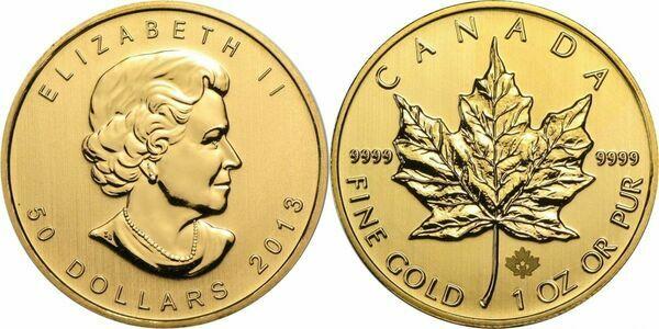 50 Dollars Elizabeth Ii 4th Effigy 1 Oz Gold Bullion