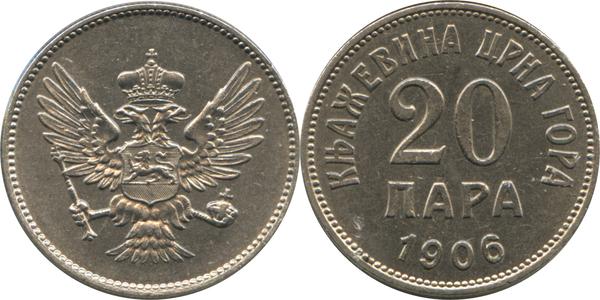 20 Para - Nikola I - Montenegro – Numista