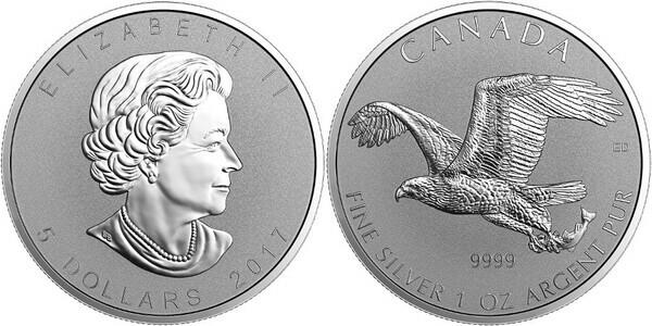 5 Dollars Elizabeth Ii Bald Eagle Canada Numista