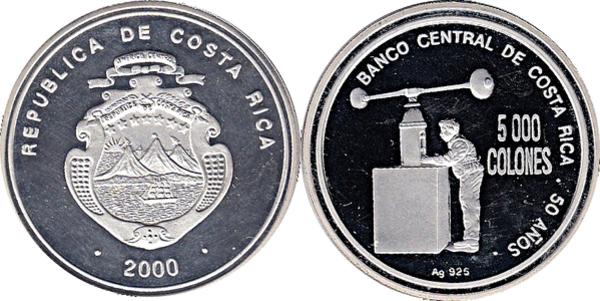 2009-2017 P-274-275-276 Costa Rica SET 1000;2000;5000 Colones UNC