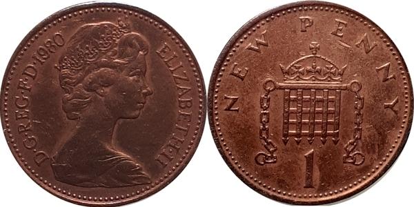 1 New Penny Elizabeth Ii 2nd Portrait United Kingdom