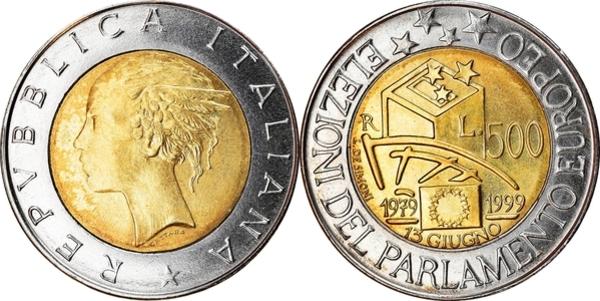 UNC ITALY SET 1993-9 coins 1993 1, 2, 5, 10, 20, 50, 100, 200, 500 LIRE