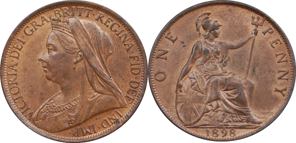 Large Cent UK UK BRITISH 1897 Great Britain Large Penny KM# 790 PENNY 1 Coin