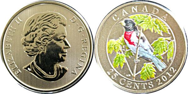 $0.25 2012 Canadian Specimen Quarter
