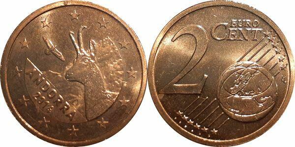 2 € Euro circulation coin 2017 UNCIRCULATED COIN ANDORRA