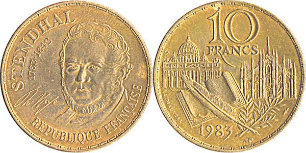FRANCE 10 francs MONTGOLFIER 1983 face A ca