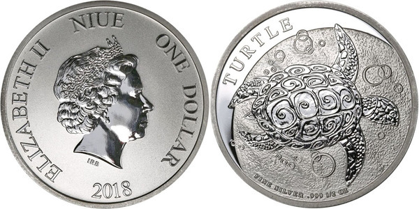 1 Dollar Elizabeth Ii Turtle Niue Numista