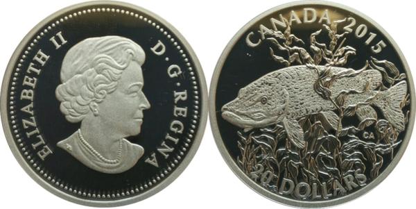 PMG 67 EPQ SUPERB GEM UNC Commem CANADA $20 Dollars 2015 BC-74