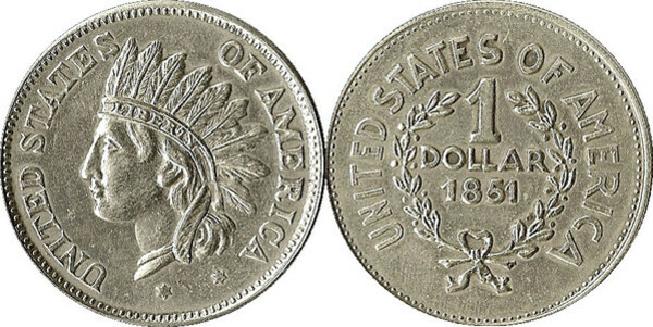 1 Dollar Indian Head Token Tokens Numista