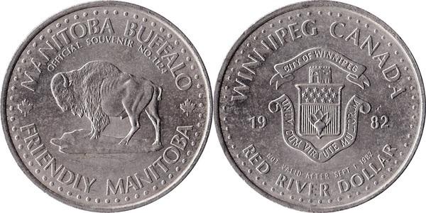 Red River Dollar Winnipeg Manitoba Tokens Numista