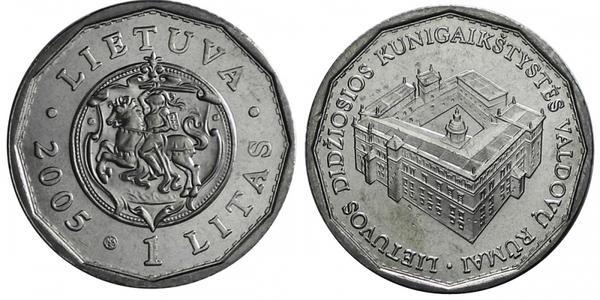 UNC issue 2005 LITHUANIA 1 Litas