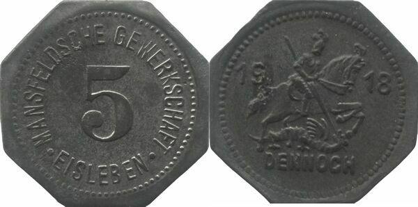 1918 Germany 5 Pfennig Banknote