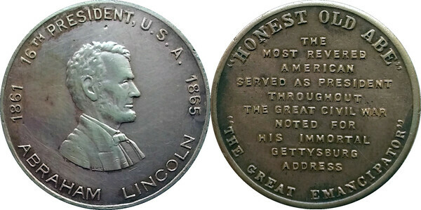 Token Abraham Lincoln Tokens Numista