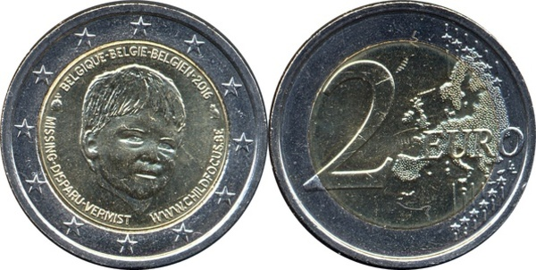 "2016 Belgium 2 Euro Brilliant Uncirculated Coin /""Rio Olympics/"" in Card"