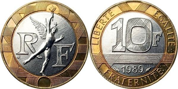 10 francs france modern numista